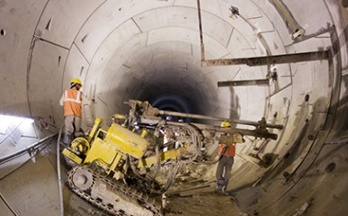 Concretagem de túneis