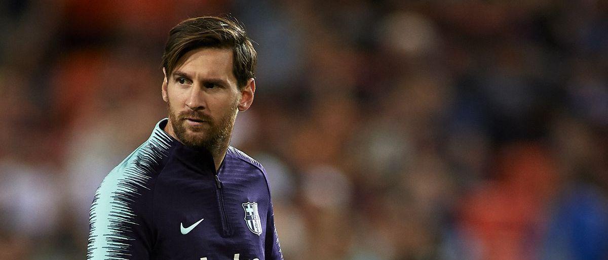Messi vuelve a entrenar once días después de su lesión