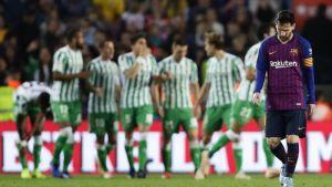 Messi vuelve y anota dos, pero Barcelona cae ante Betis