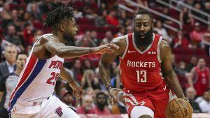 Harden se destapa con 43 puntos y Rockets derrotan a Pistons