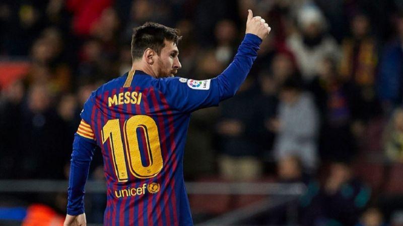 Messi llega a 400 goles en La Liga española en victoria del Barcelona
