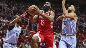 Harden explota con 57 puntos y Rockets vence a Grizzlies