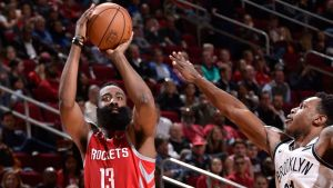 Harden anota 58 puntos en derrota de Rockets ante Nets