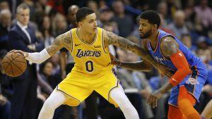Kuzma anota 32 y Lakers derrotan a los Thunder sin LeBron