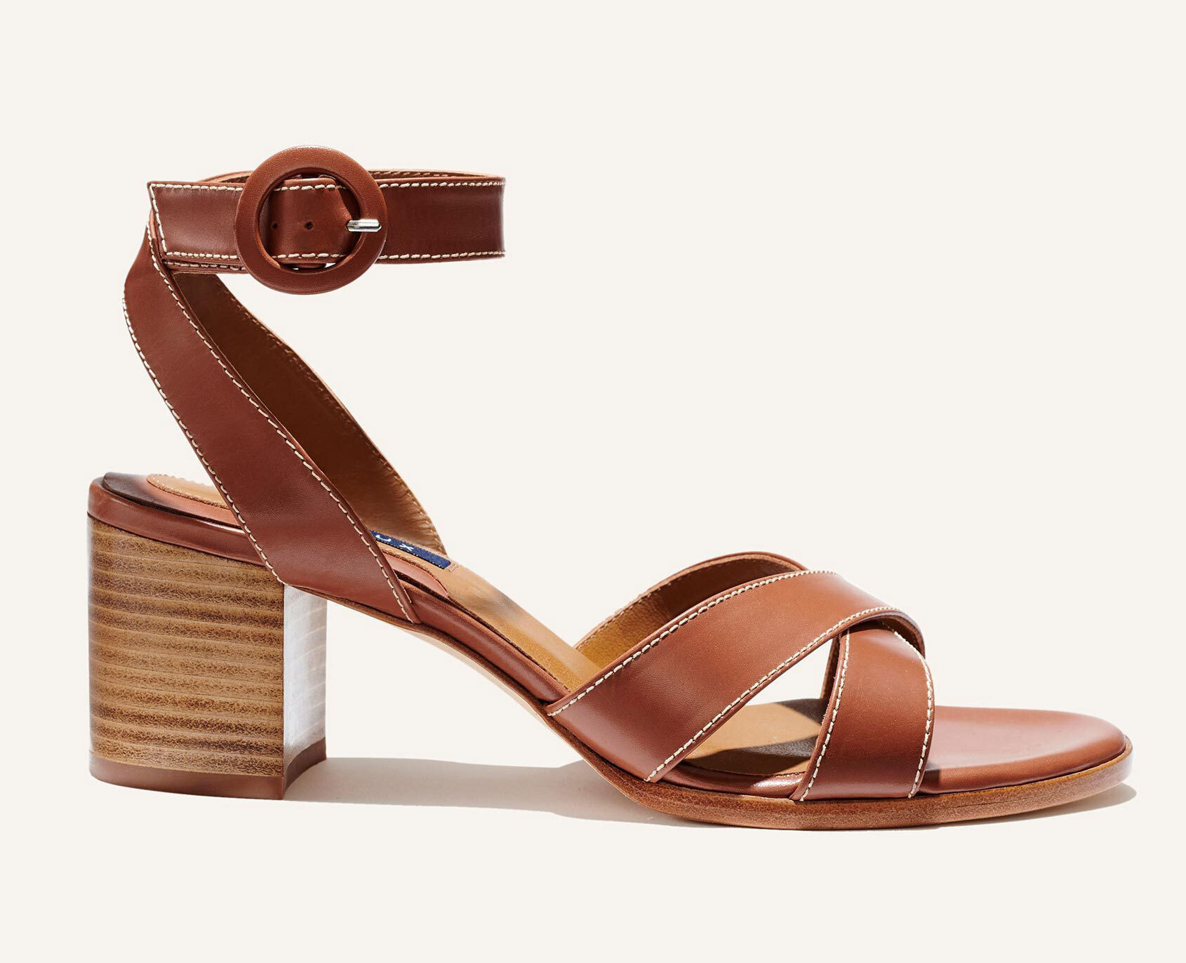 The City Sandal in Saddle Calf