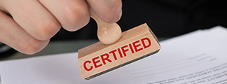 hand stamping certification logo