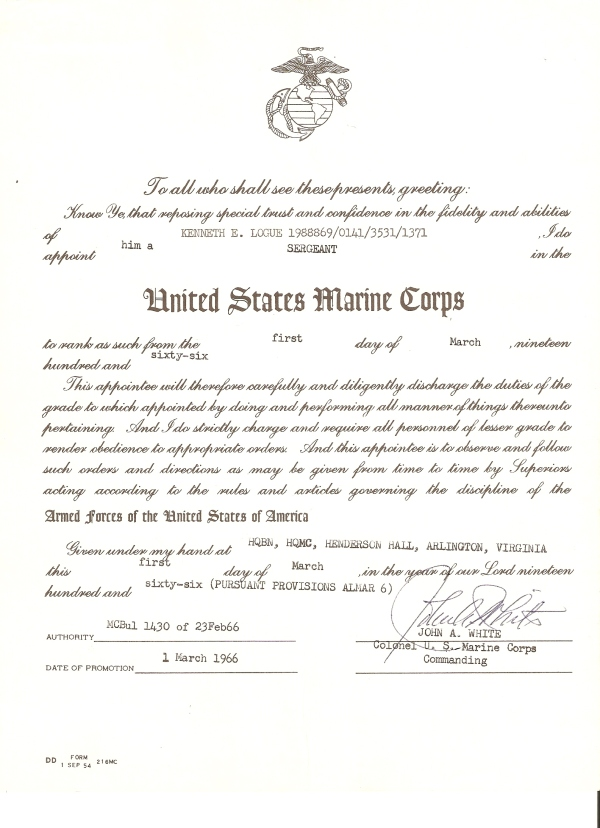 officer promotion certificate template - amazing usmc promotion warrant template gallery example