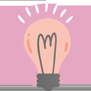 Imagem de uma lampada representando o insight de um tipo ideal de aplicativo para eventos
