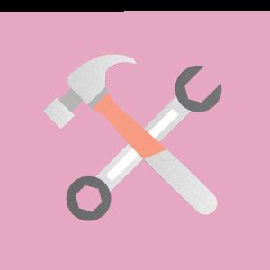 Imagem de ferramentas manuais representando ferramentas digitais que podem ser usadas por organizadores e produtores de eventos