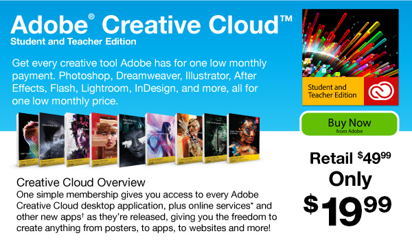 Get all of the Creative Suite 6 desktop apps, online