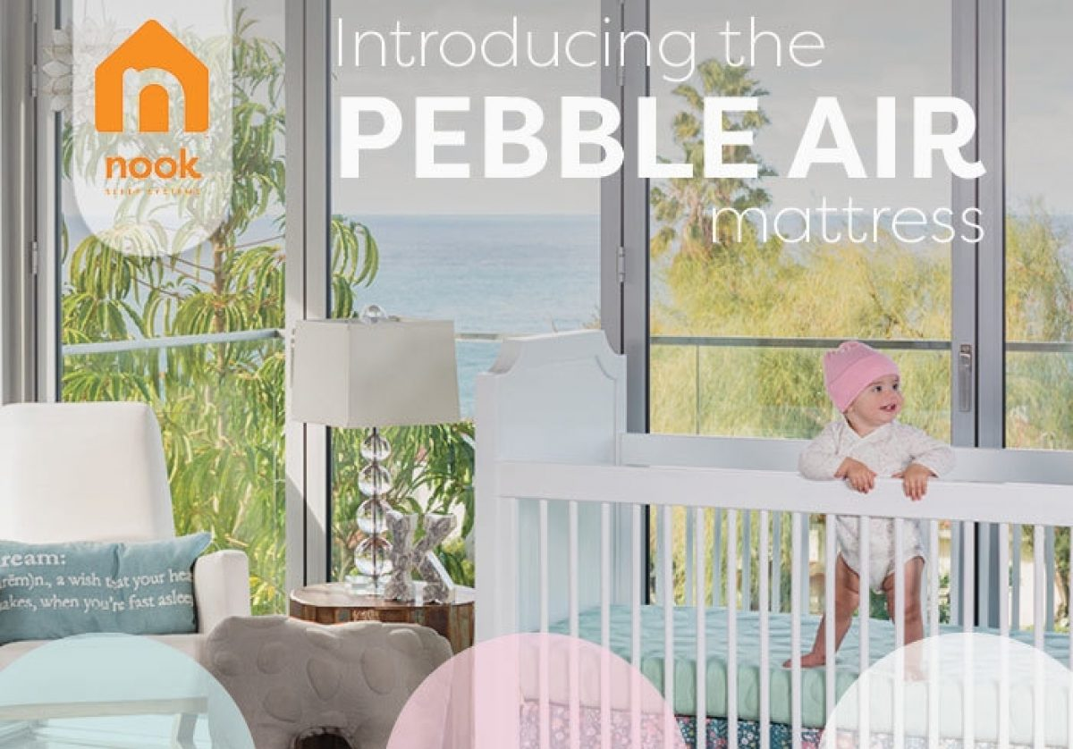 Introducing Pebble Air Crib Mattress Infant Toddler Non Toxic Nook Sleep Systems