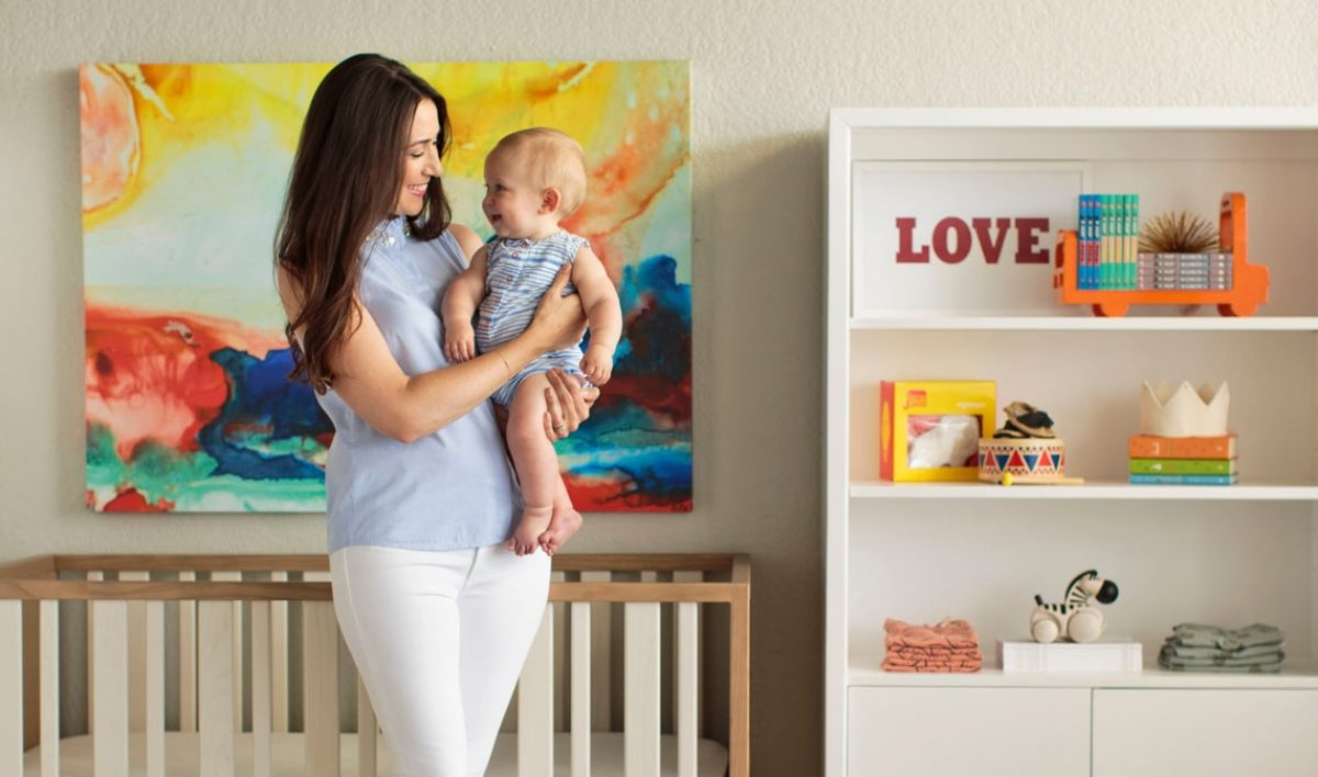 pebble talk hilary colia of baby by design  nook sleep systems - nook sleep blog hilary baby by design nursery