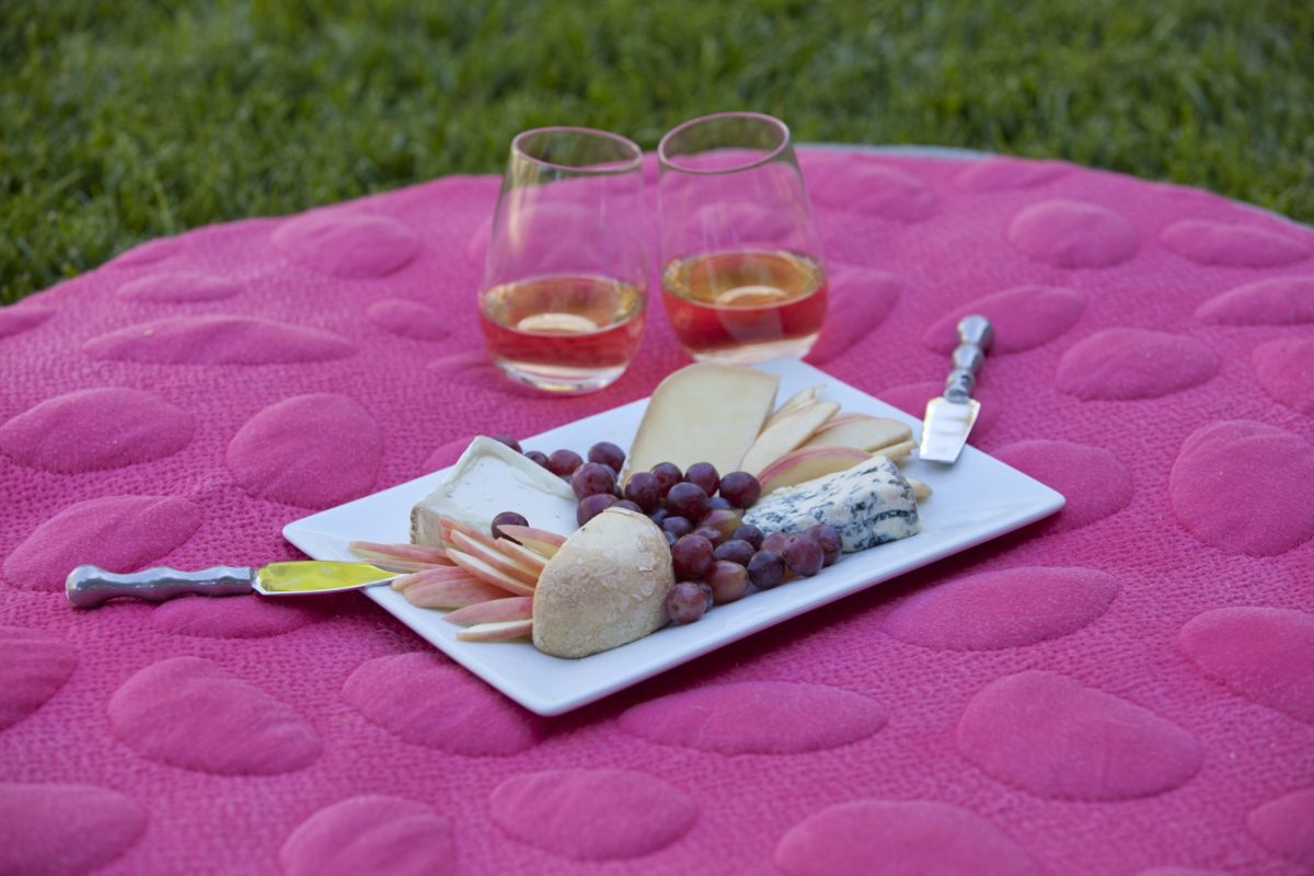Nook Summer Romance Ideas - picnic on an organic LilyPad playmat