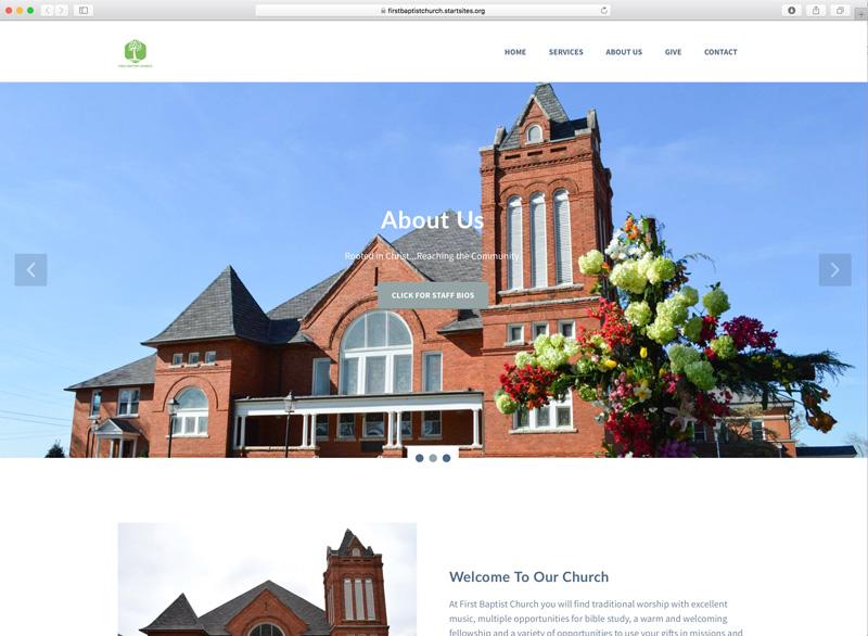 First Baptist Church StartSITES