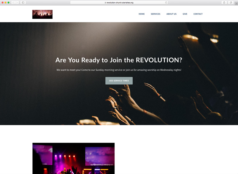 Revolution Church StartSITES