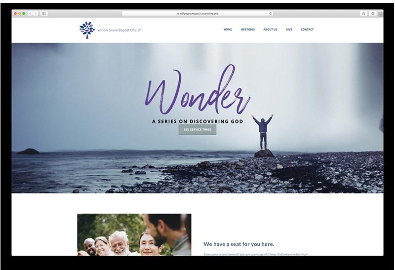 Traditional Church Website screenshot