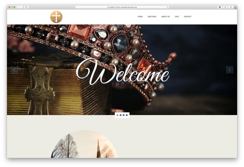 Kingdom Focused Website screenshot