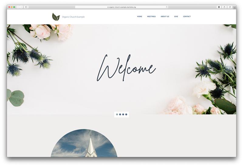 Organic Focused Website screenshot