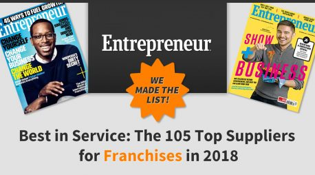 "Ranked a Top 10 ""Best in Service"" Franchise Marketing Solution"