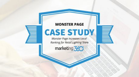 Case Study:  Monster Page Increases Local Ranking for Retail Lighting Store