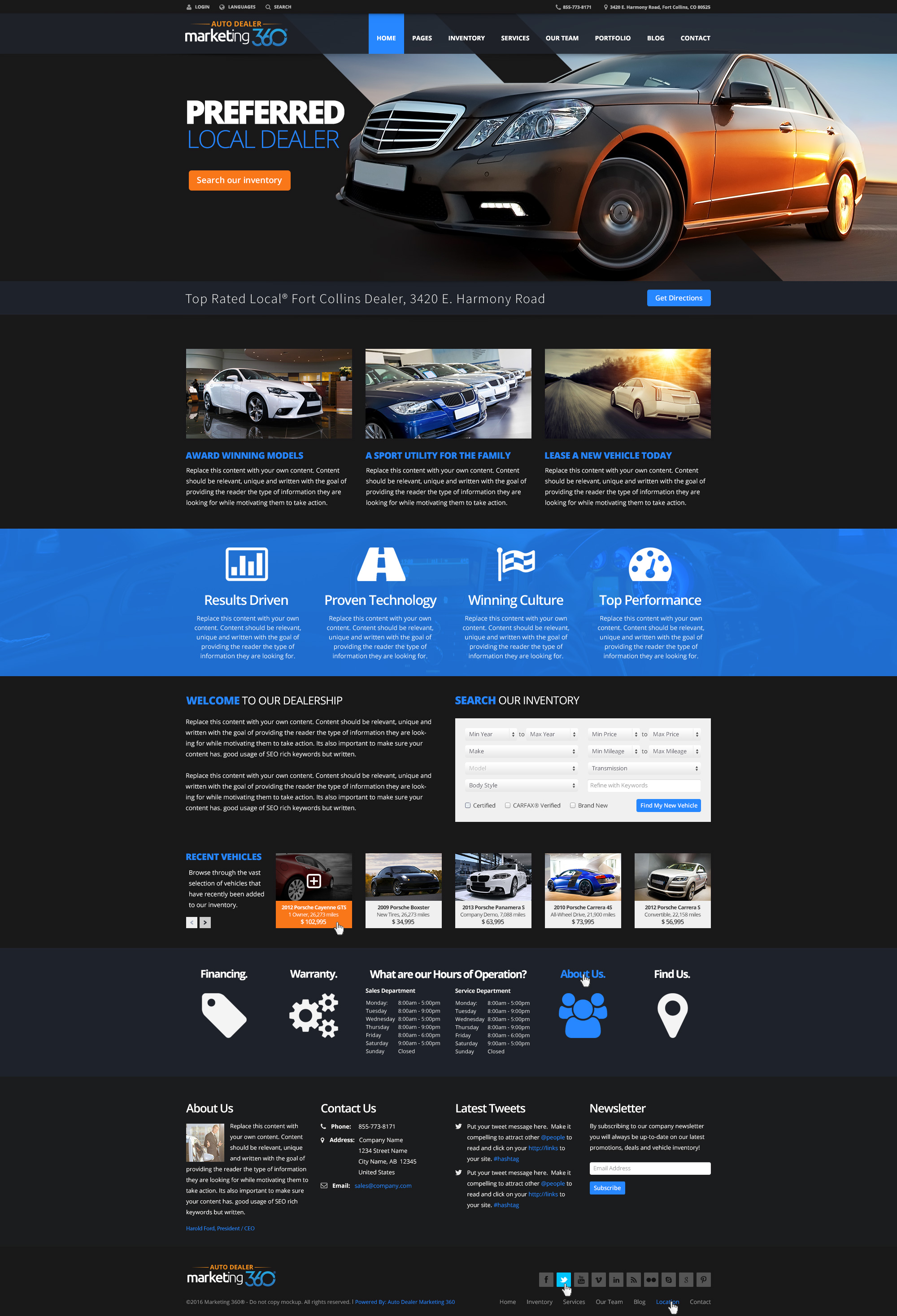 car dealer websites auto dealership website templates auto dealer website design auto. Black Bedroom Furniture Sets. Home Design Ideas