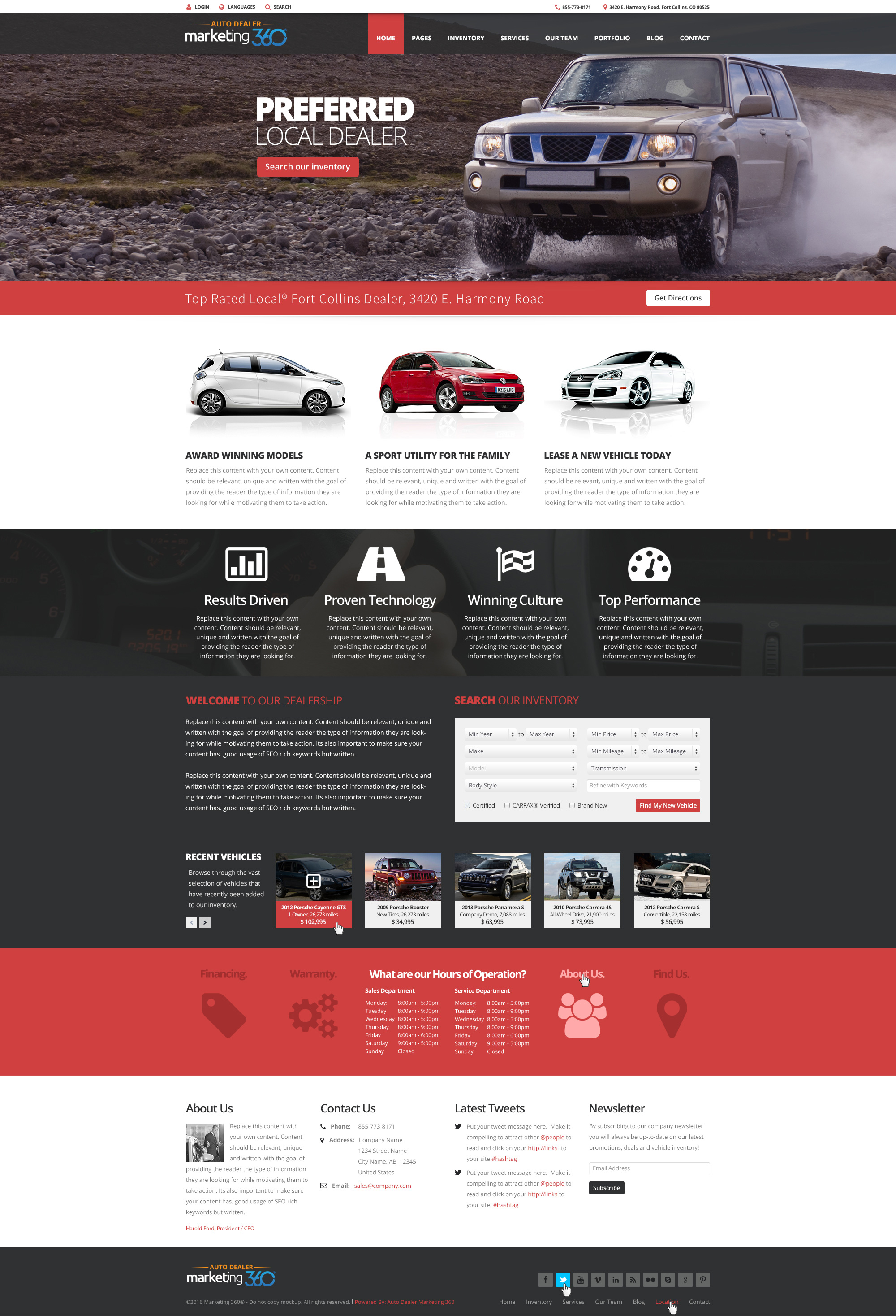Car Dealer Websites - Auto Dealership Website Templates | Auto ...