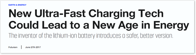 New Ultra-Fast Charging Tech Could Lead to a New Age of Energy
