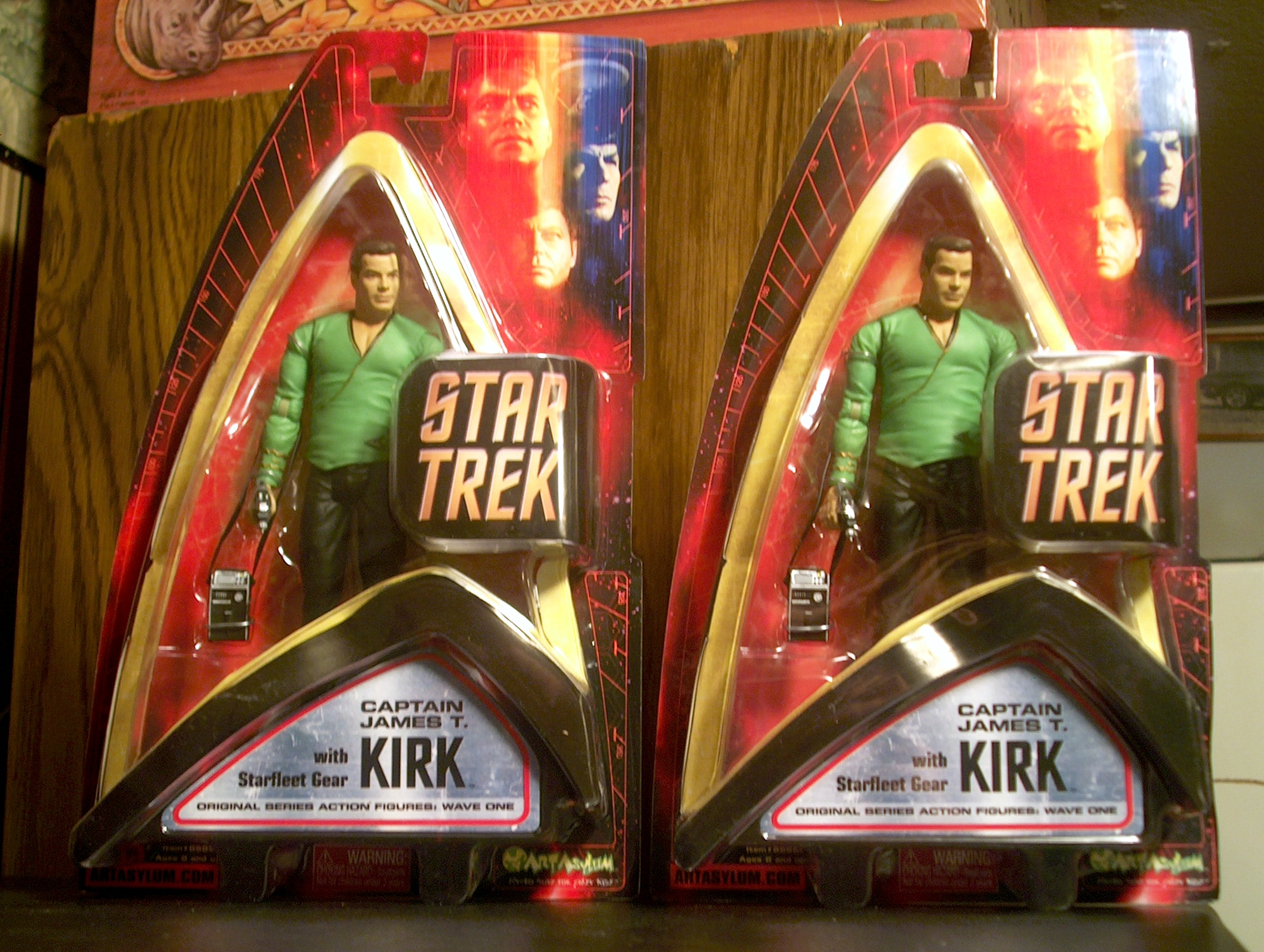 Captain James T. Kirk with Starfleet Gear
