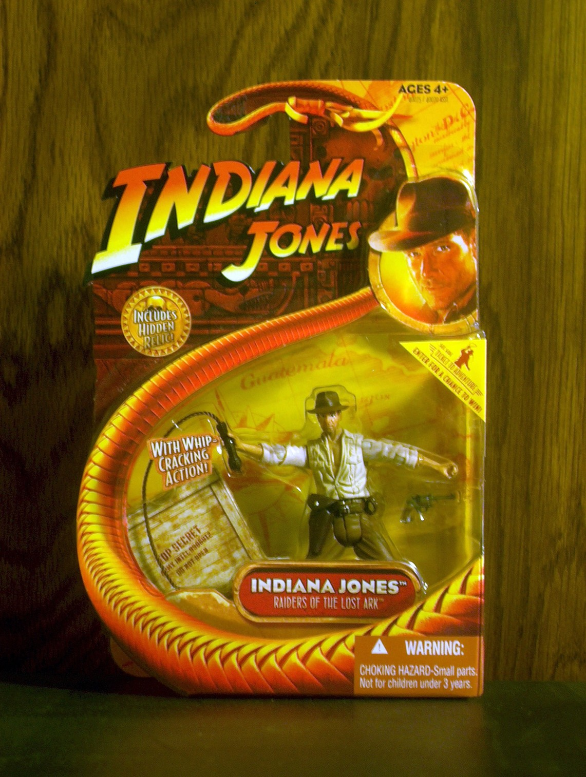 Indiana Jones with whip-cracking action