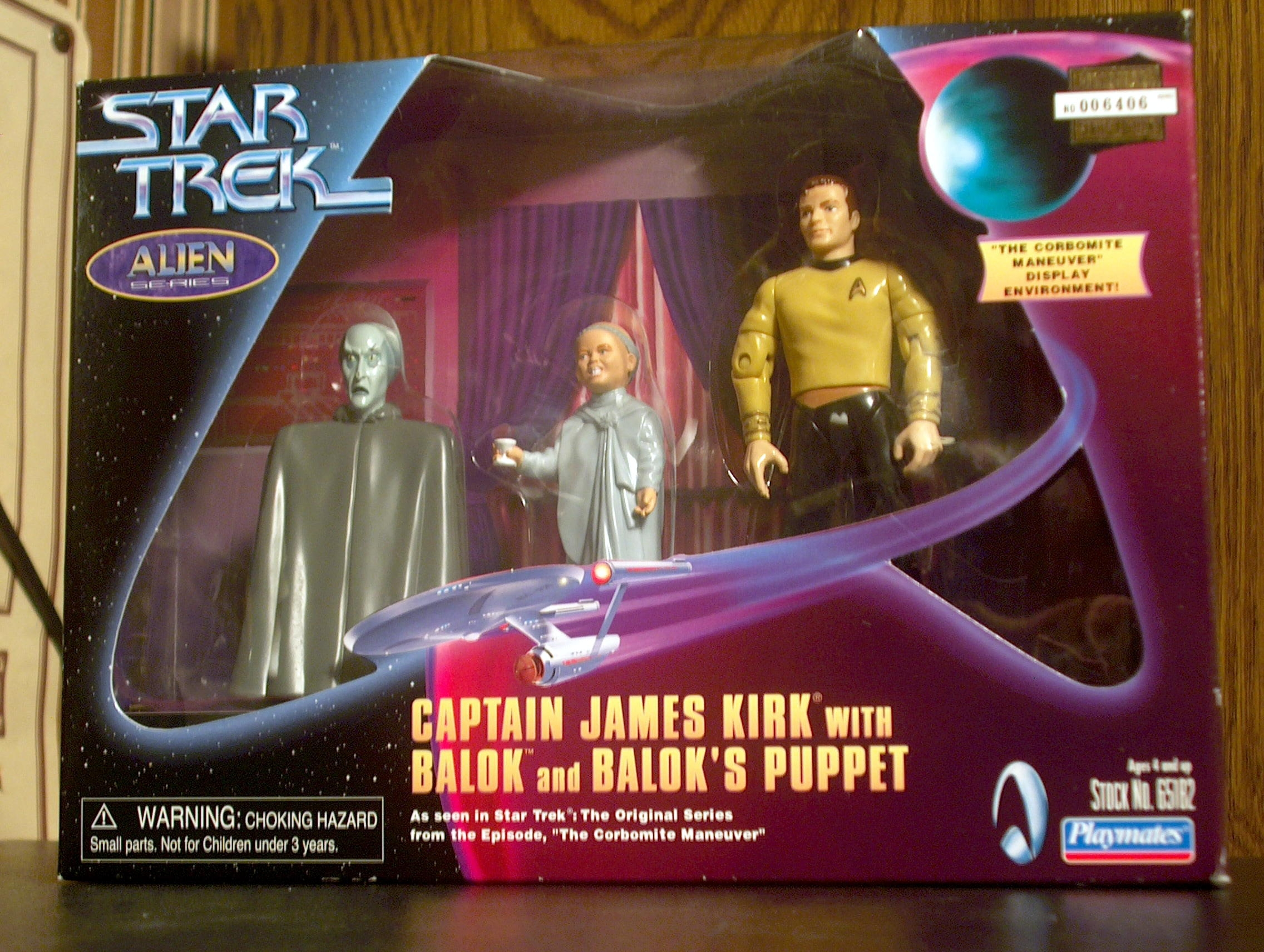 Captain James Kirk with Balok and Balok's Puppet