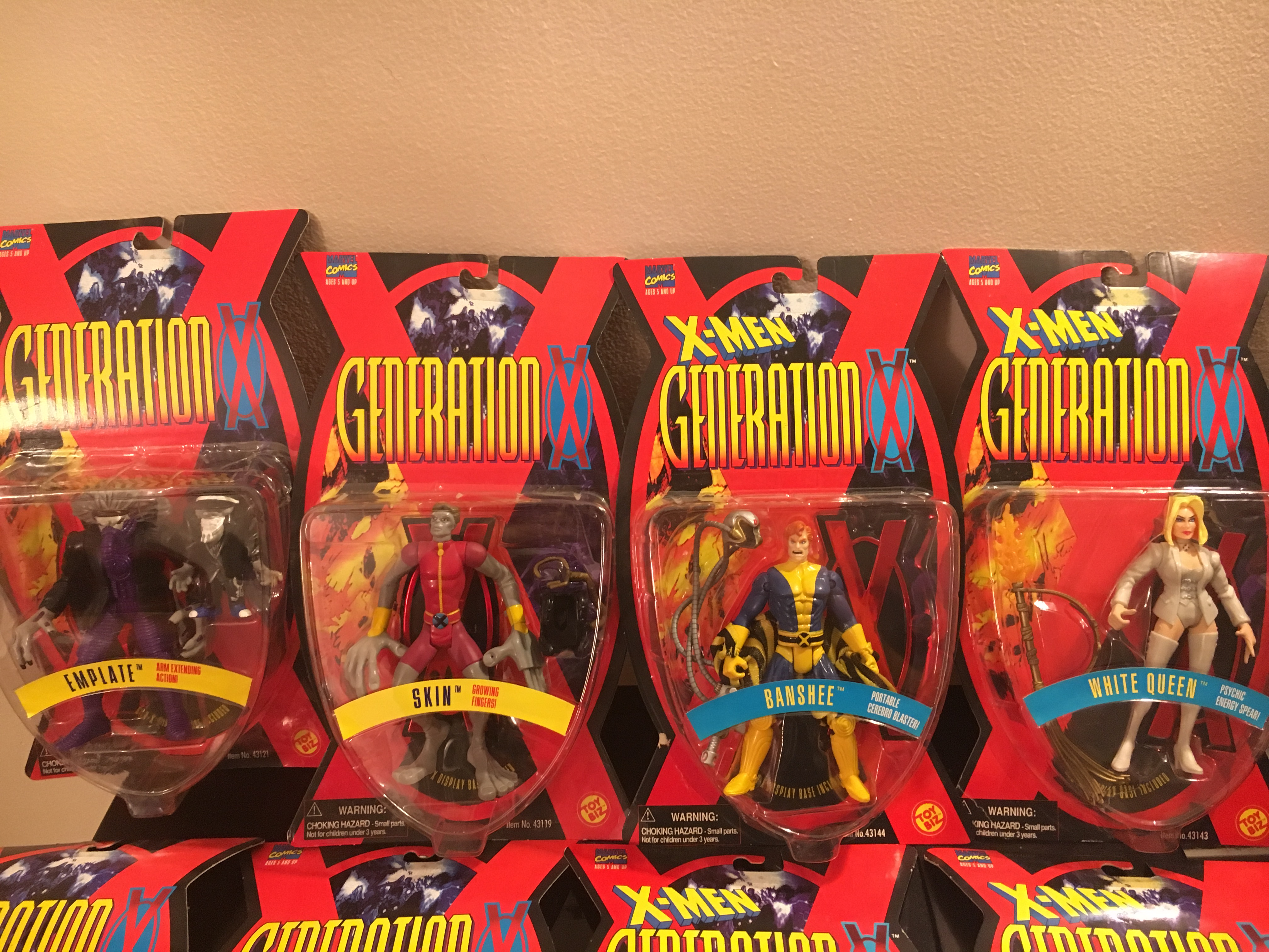 X-Men Generation X COMPLETE Collectible Set  Toy Biz, Inc. 035112431213; 035112431190; 035112431442; 03511243