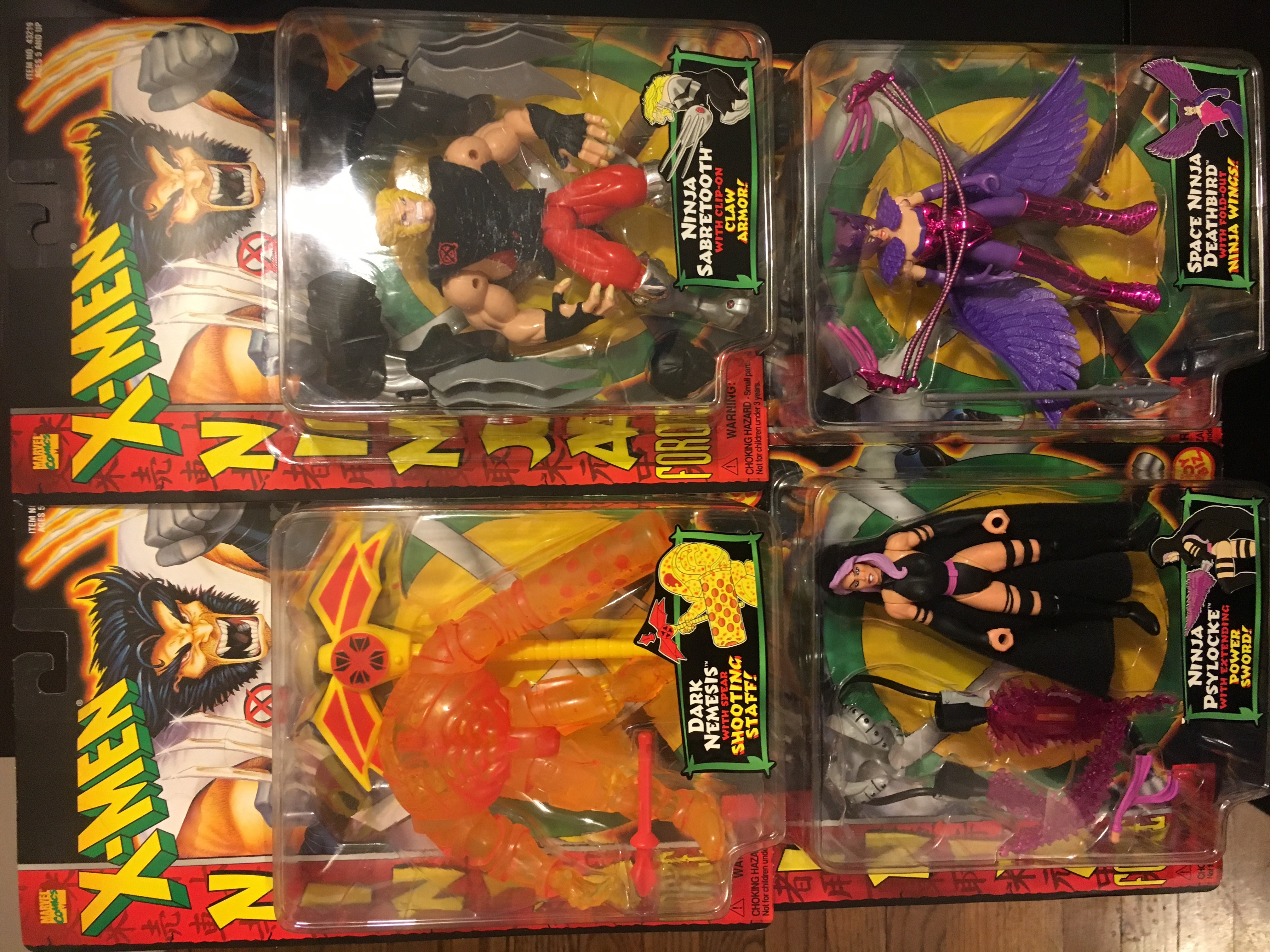X-Men Ninja Force Lot (4 out of 5 collectables)