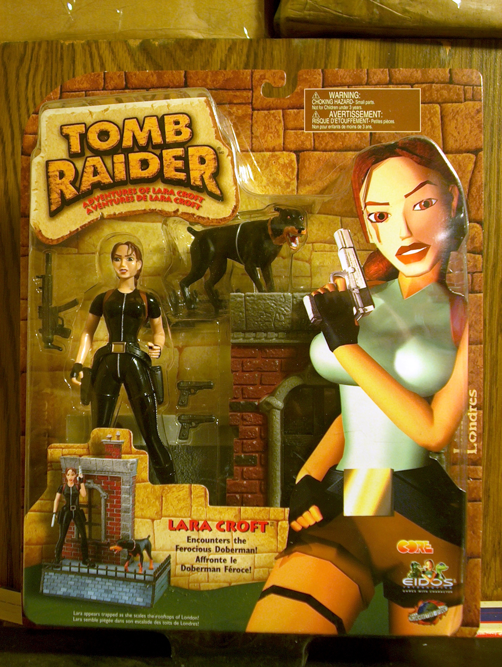 Lara Croft - Encounters the Ferocious Doberman!