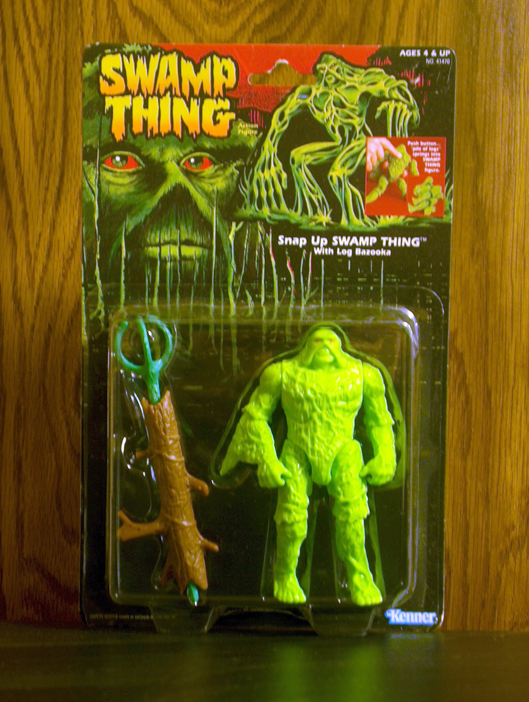 Snap Up Swamp Thing with Log Bazooka