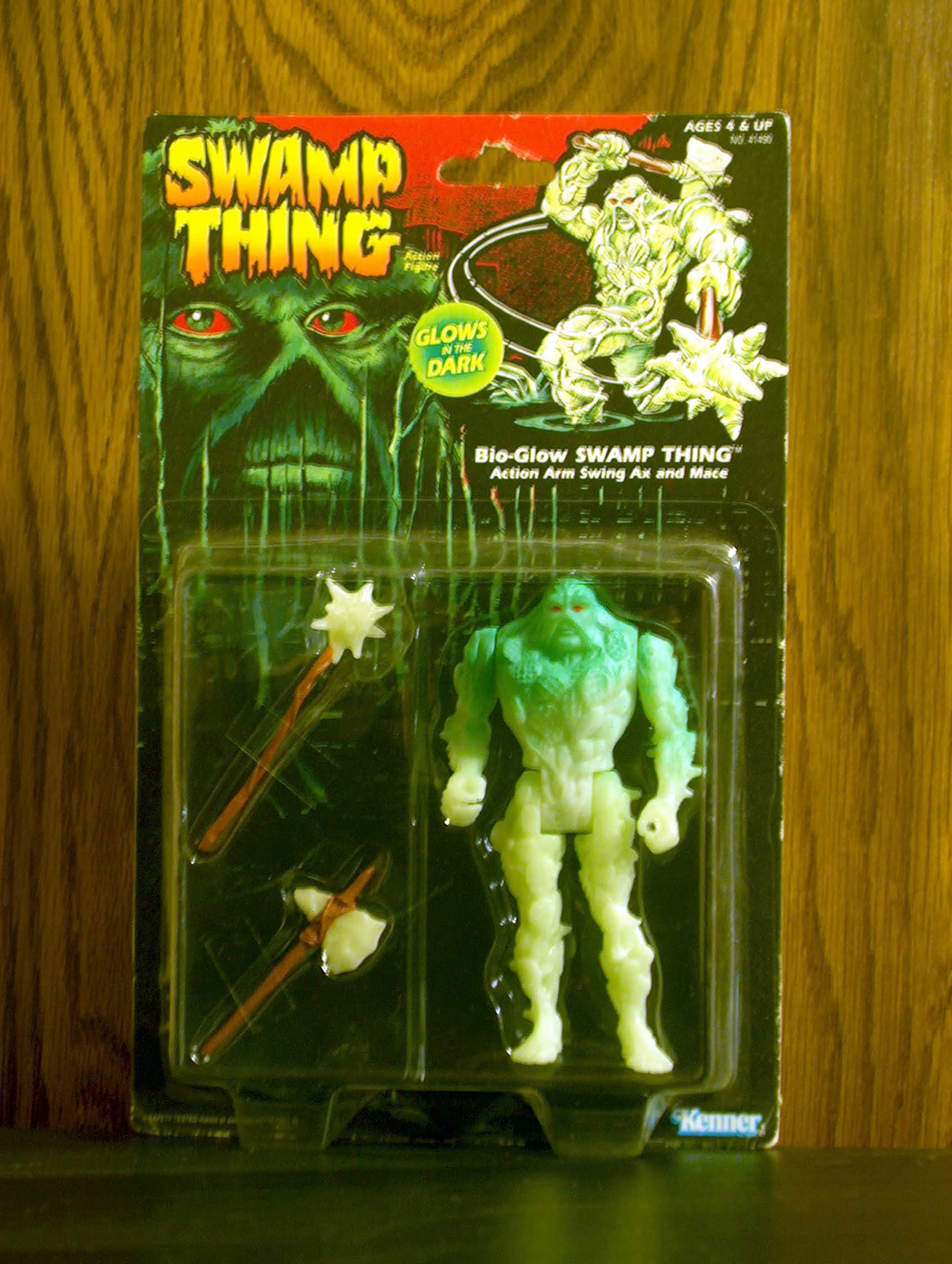 Bio-glow Swamp Thing Action Arm Swing Axe and Mace