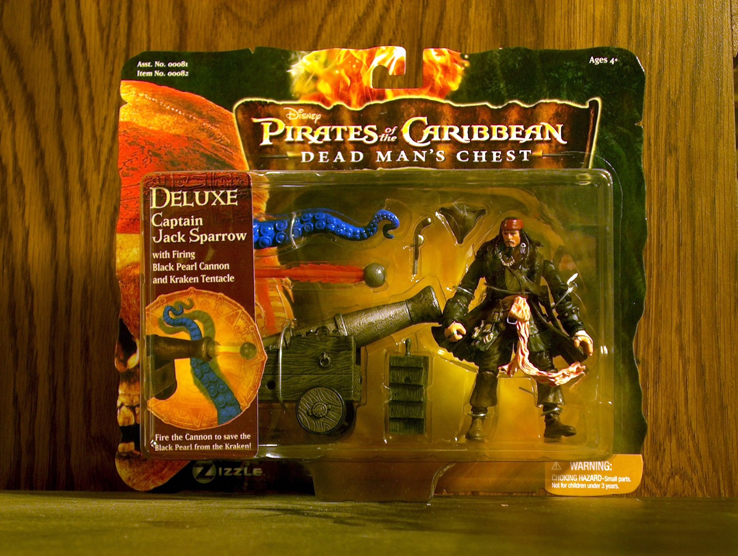 Deluxe Captain Jack Sparrow with Firing Black Pearl Cannon and Kraken Tentacle
