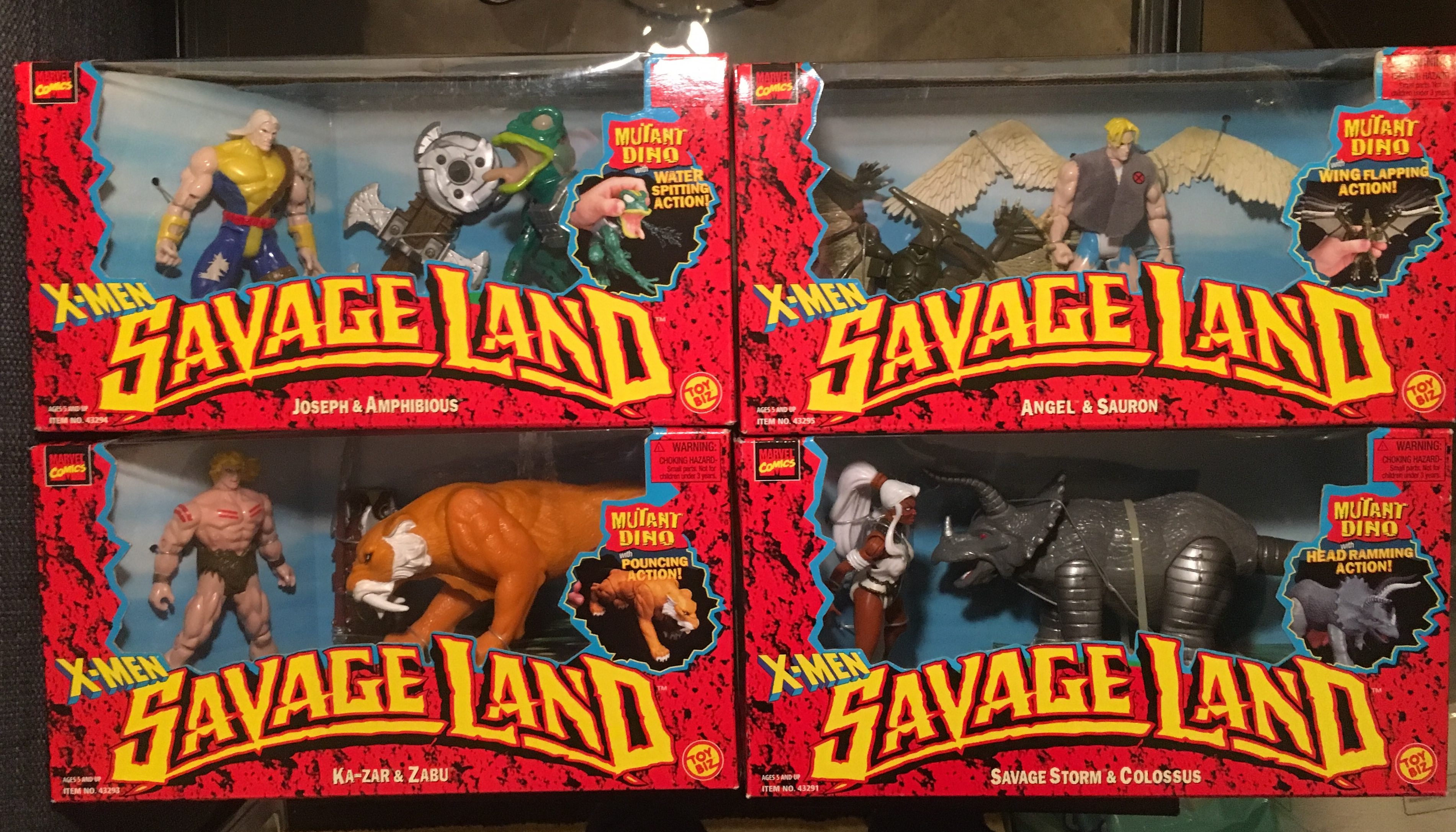 X-Men Savage Land Series Lot (4 out of 5 Collectables)