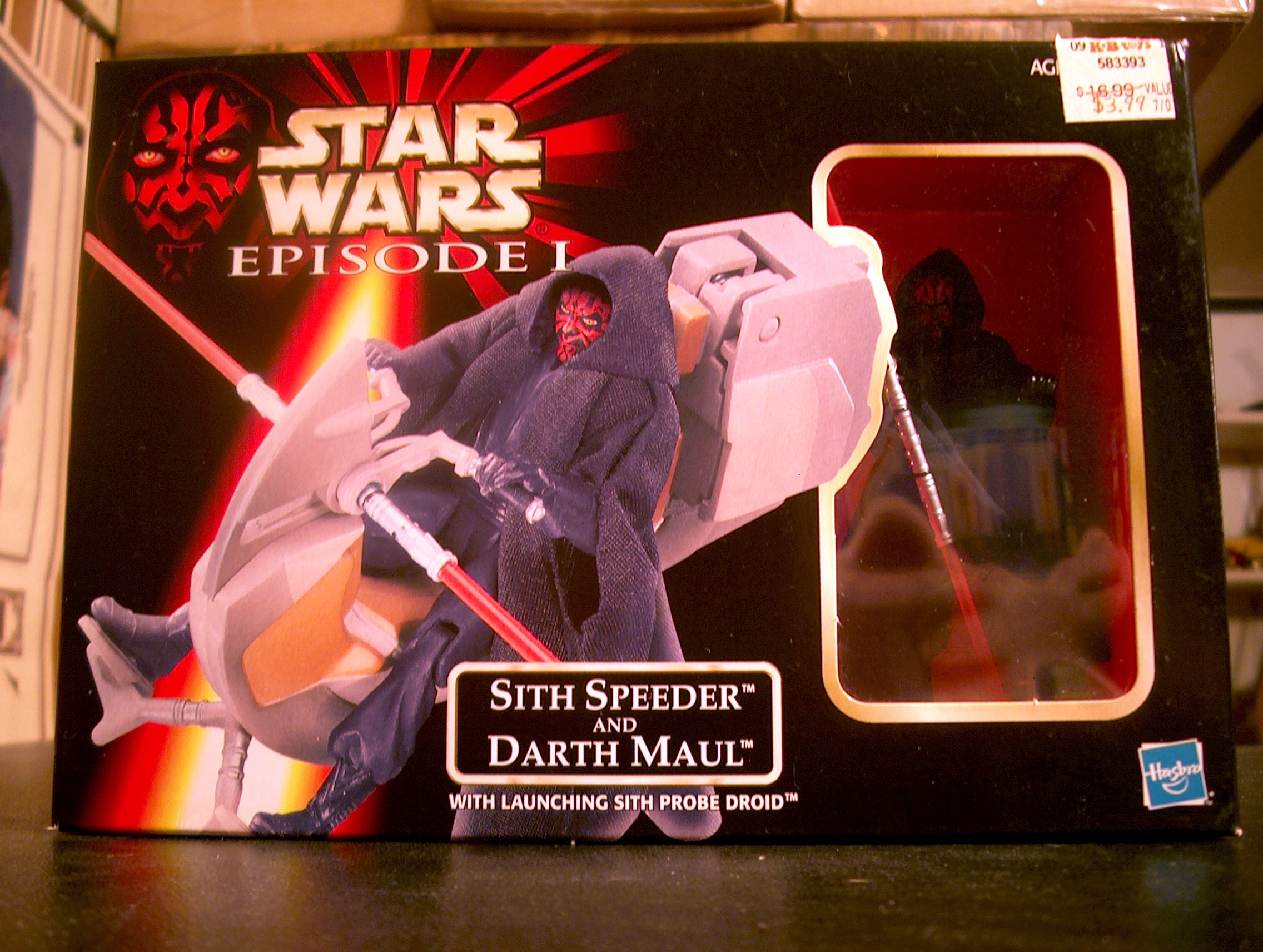 Sith Speeder and Darth Maul with Launching Sith Probe Droid