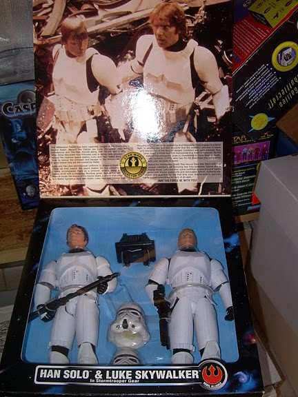 Han Solo & Luke Skywalker in Stormtrooper Gear (limited edtion KB toys)