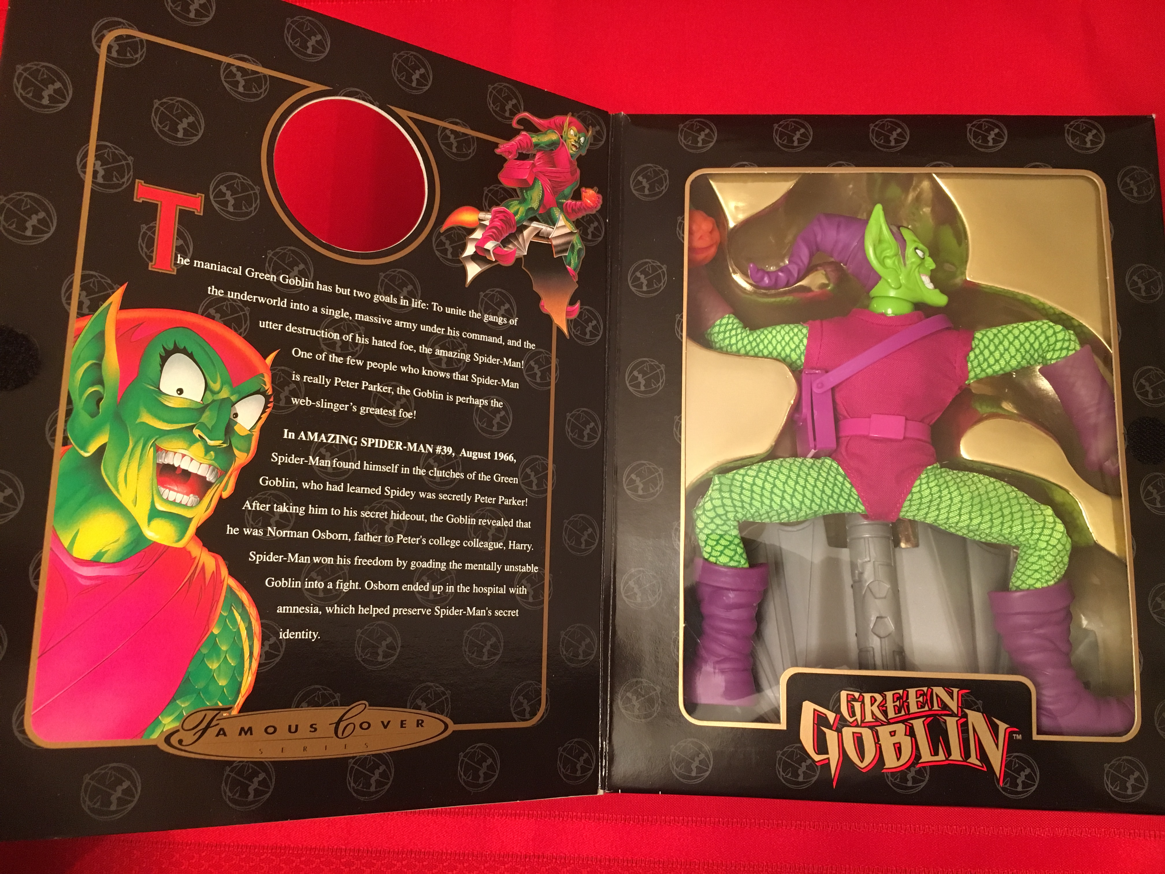 "1997 Famous Cover Series ""Green Goblin""  Toy Biz, Inc. 035112484936"