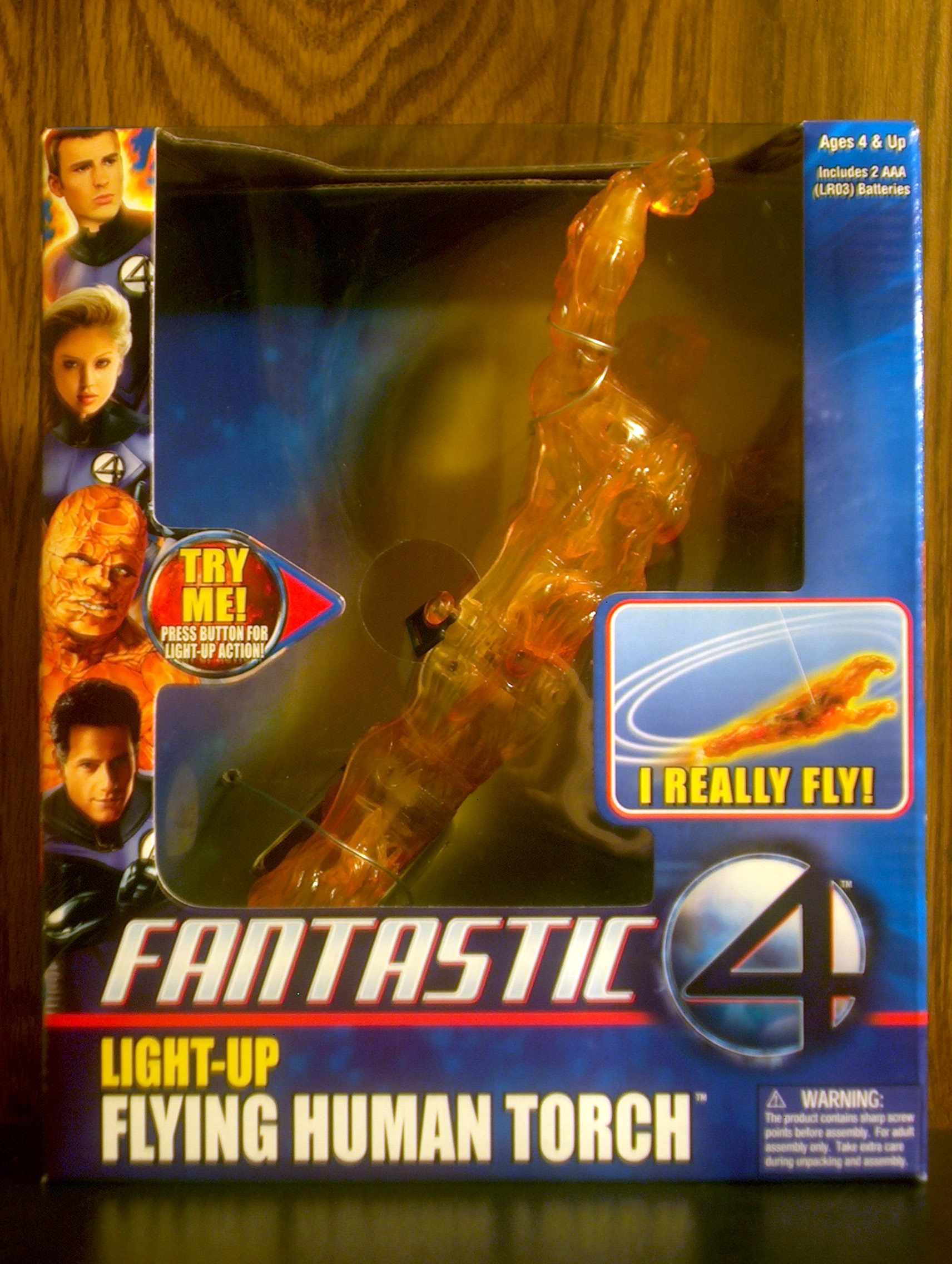 Light-Up Flying Human Torch