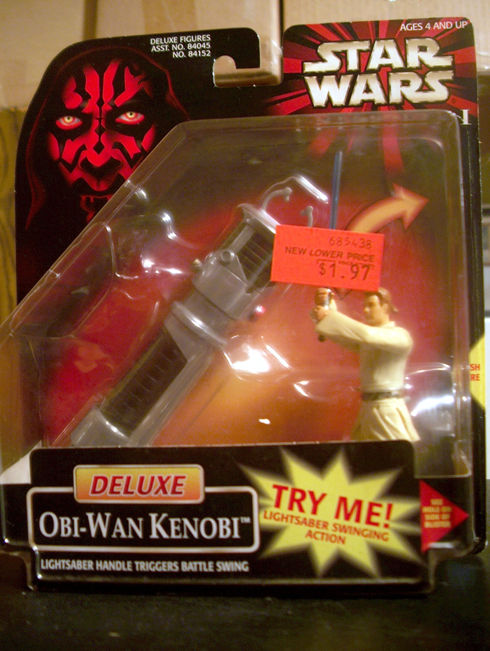 Deluxe Obi-Wan Kenobi Lightsaber Handle Triggers Battle Swing