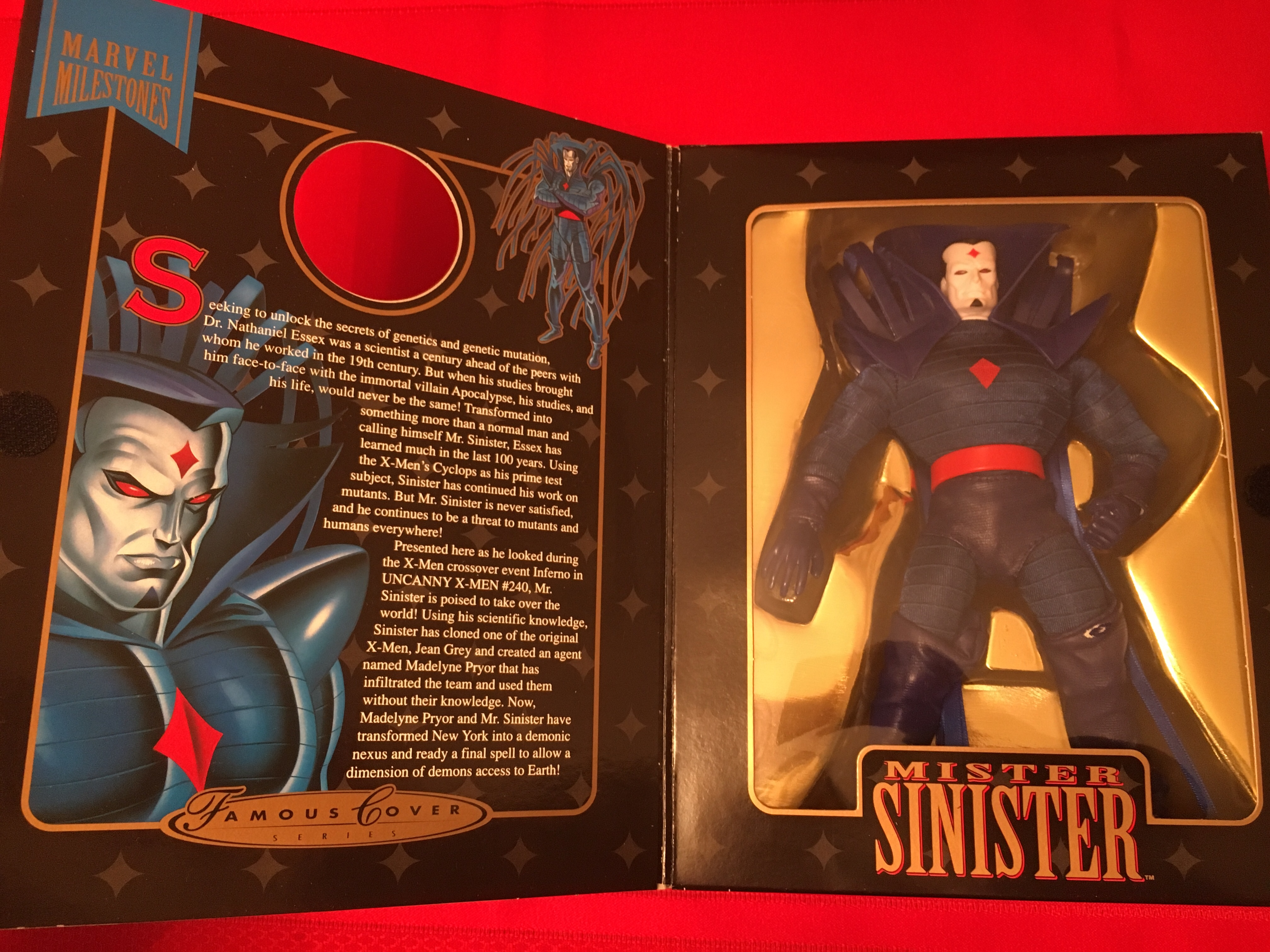 """1998 Famous Cover Series """"Mister Sinister""""  Toy Biz, Inc. 035112482680"""