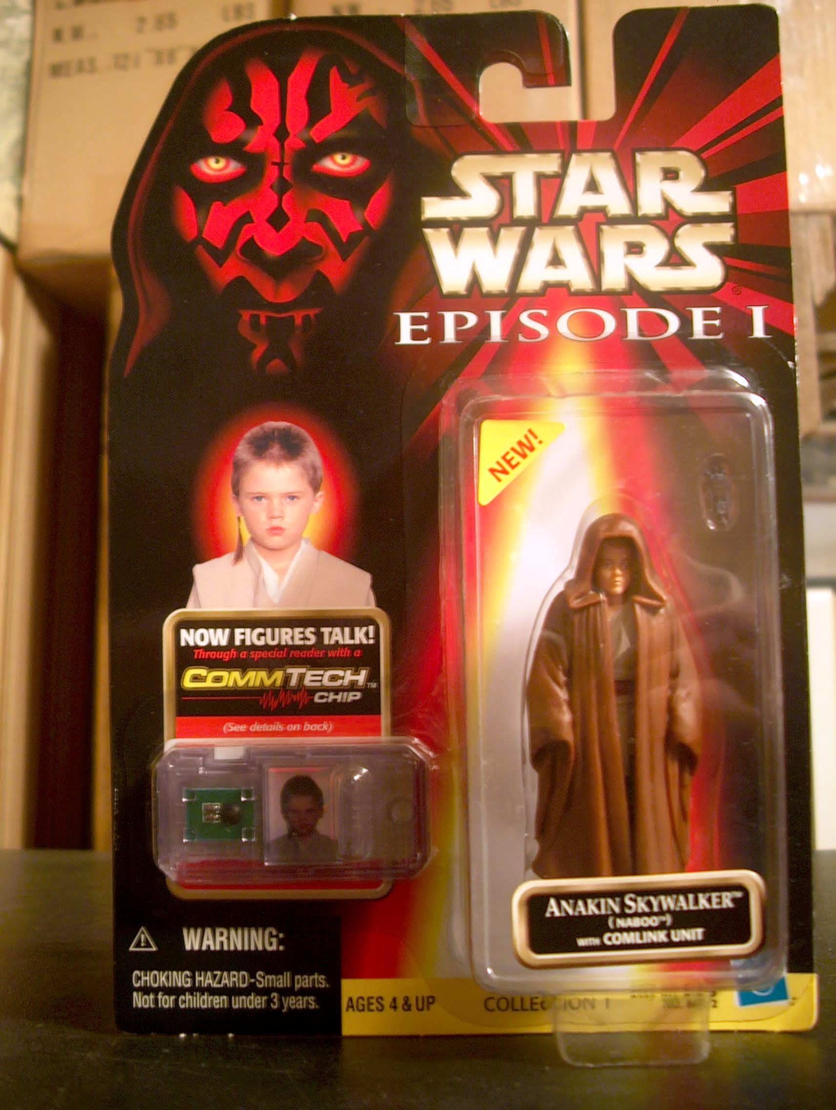 Anakin Skywalker (Naboo) with Comlink Unit (.0100) (New sticker)