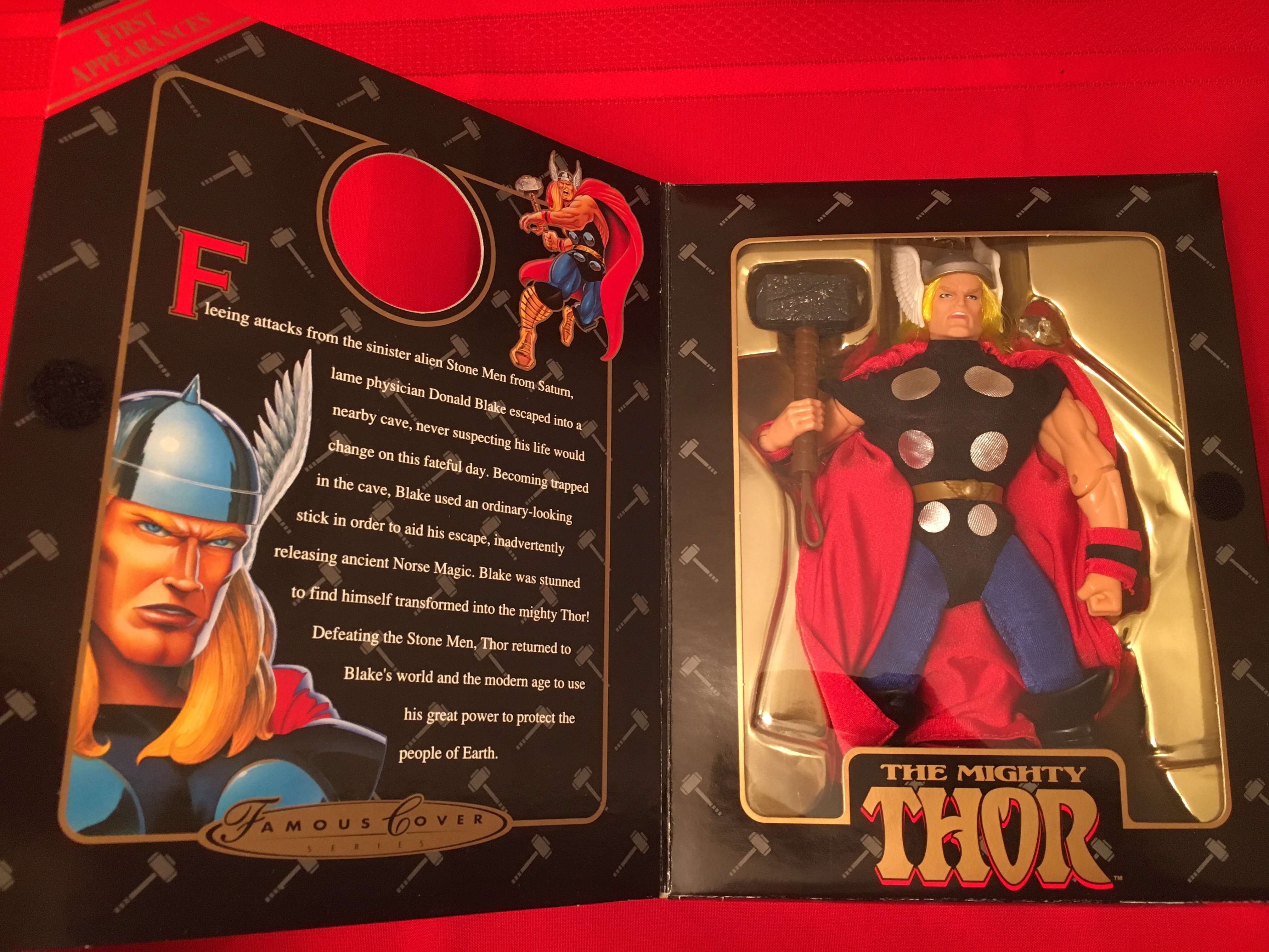 "1998 Famous Cover Series ""The Mighty Thor""  Toy Biz, Inc. 035112482079"