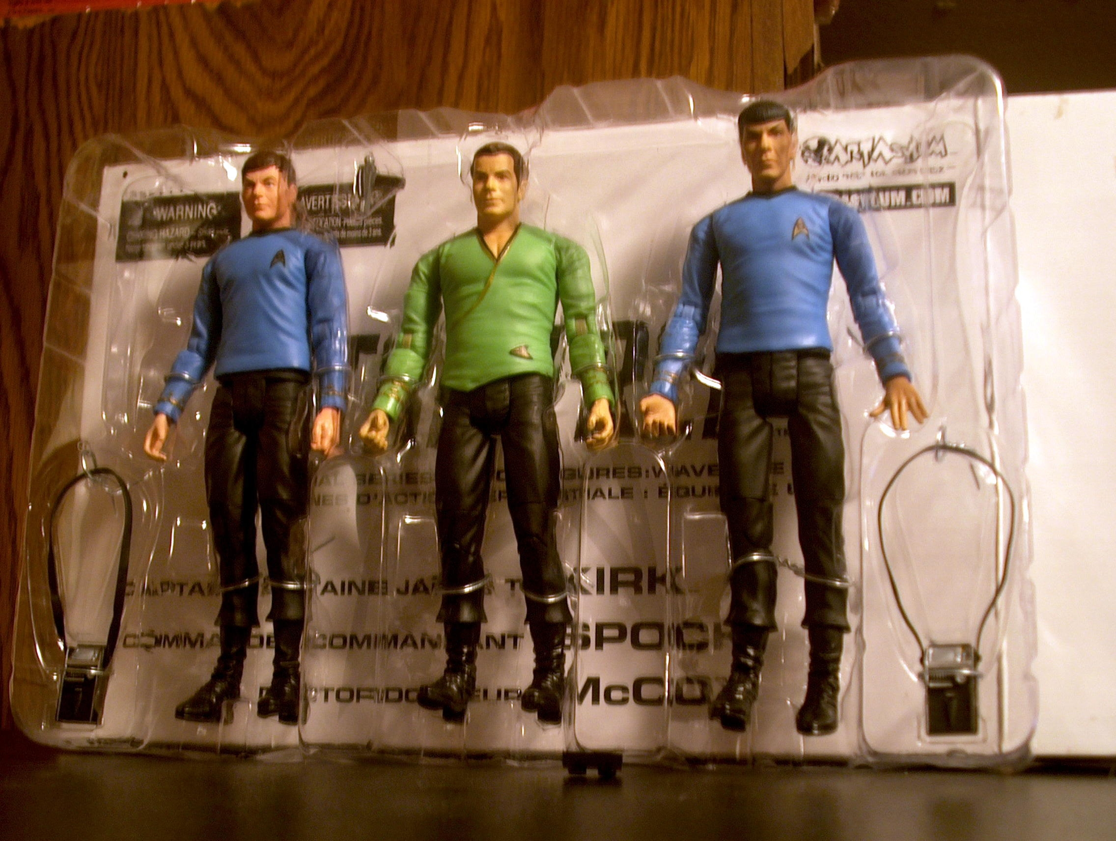 Captain James T. Kirk, Commander Spock, Doctor McCoy