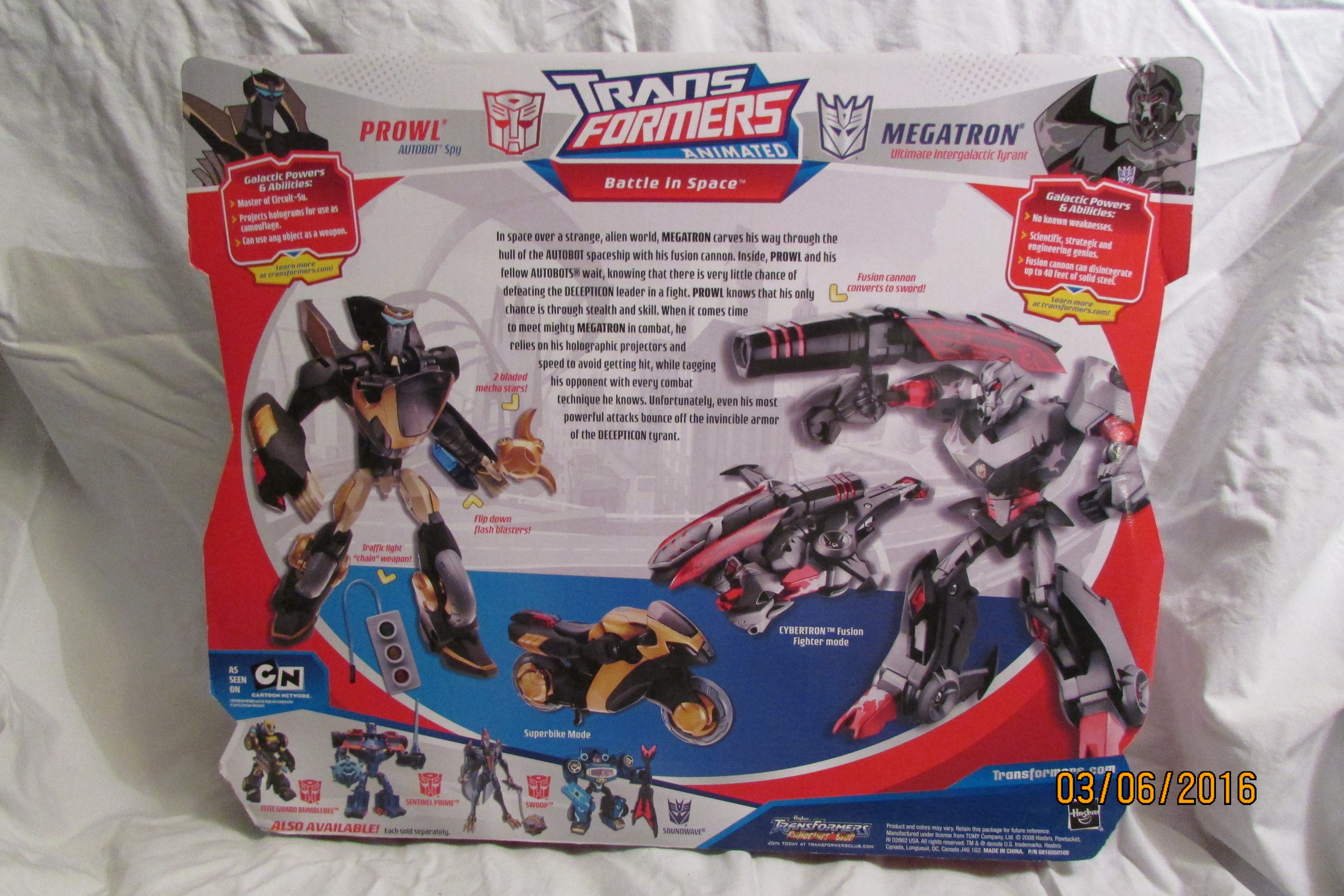 Battle In Space (Prowl - Megatron) (2-Pack) (Wal-Mart Exclusive)