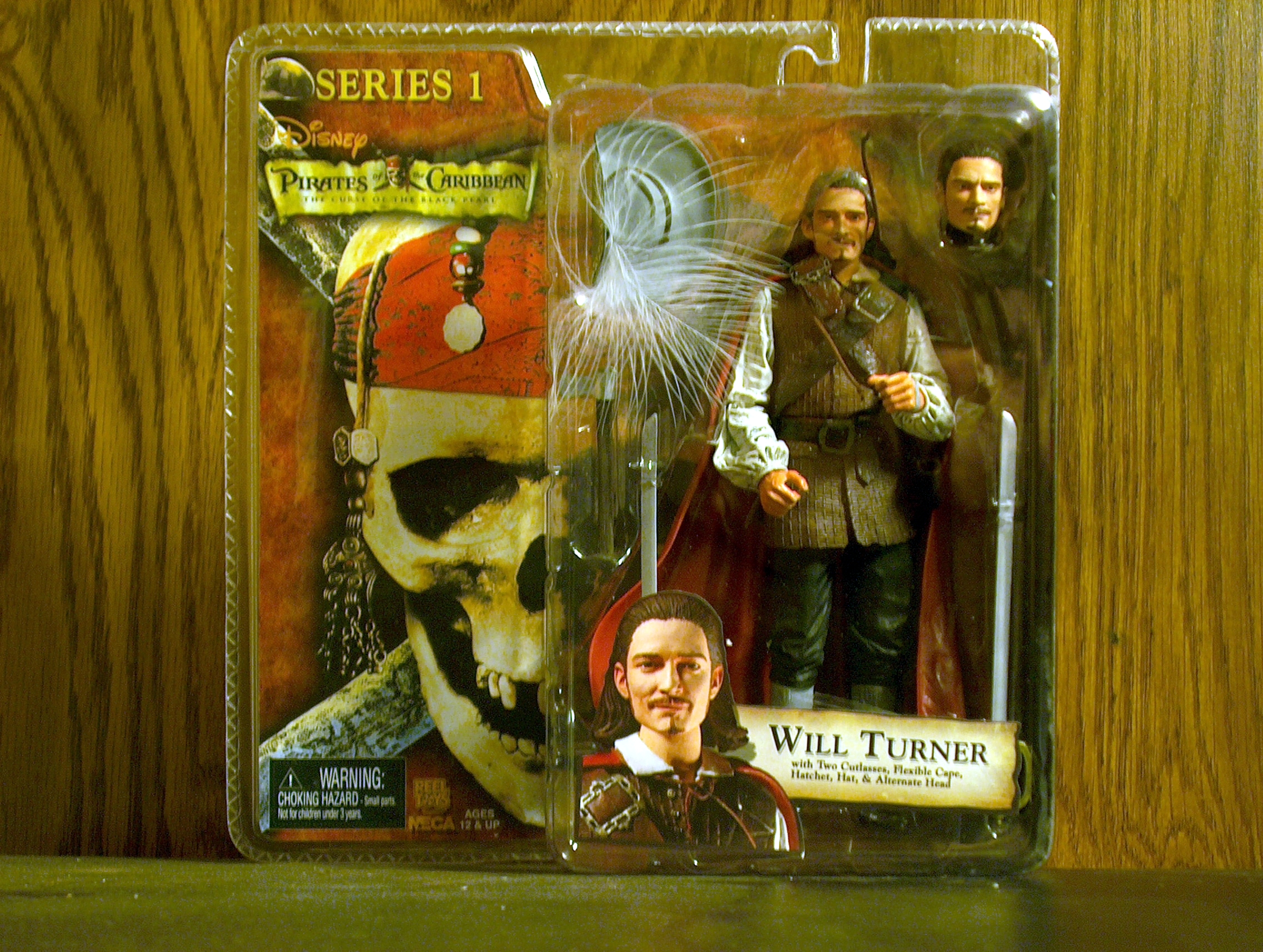 Will Turner with Two Cutlasses, Flexible Cape, Hatchet, Hat & Alternate Head