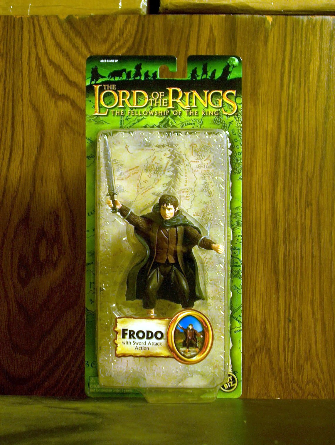 Frodo with Sword Attack Action