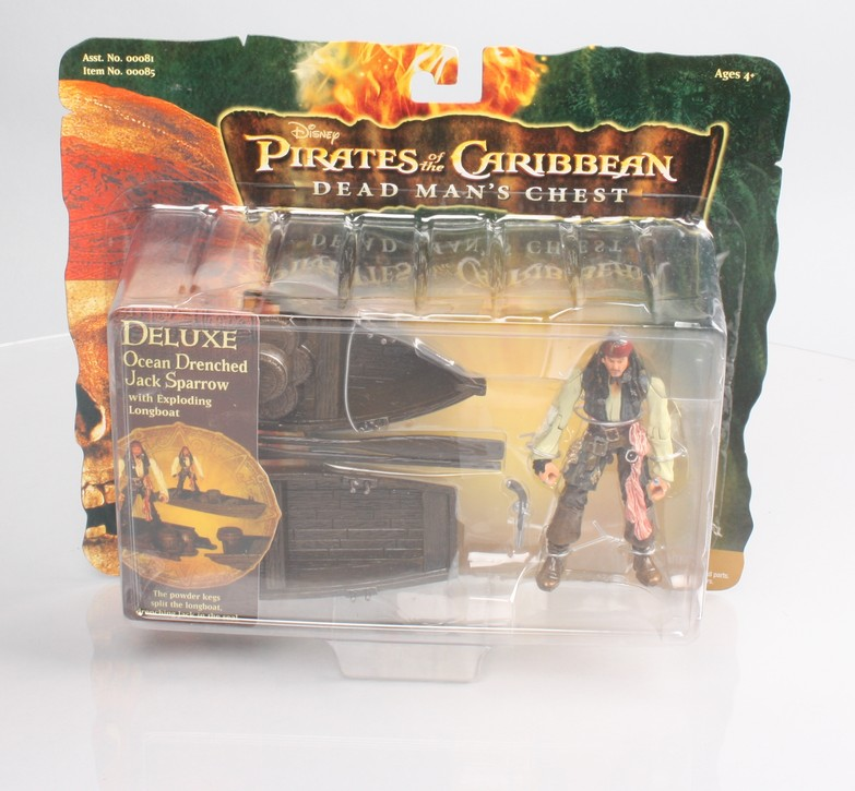 Deluxe Ocean Drenched Jack Sparrow with Exploding Longboat